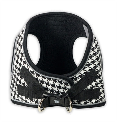 Black EZ Reflective Houndstooth Harness Vest