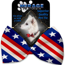 Load image into Gallery viewer, Stars and Stripes Pet Bow Tie - Bark Fifth Avenue