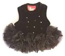 Load image into Gallery viewer, Black Velvet Twinkle Tutu Dress - Bark Fifth Avenue