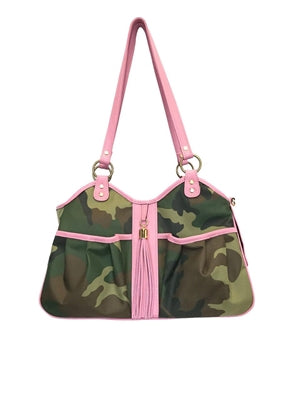 METRO - Camo w/Pink Leather Tassel & Trim