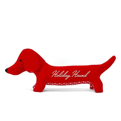 Wooly Holiday Hound Plush Dog Toy
