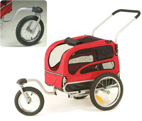 Solvit Jogging/Stroller Kit for Medium Houndabout II Track'r Bicycle Trailer