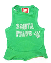 Load image into Gallery viewer, Big Santa Paws Green Christmas Tank Dress - Bark Fifth Avenue