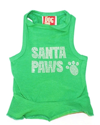 Big Santa Paws Green Christmas Tank Dress
