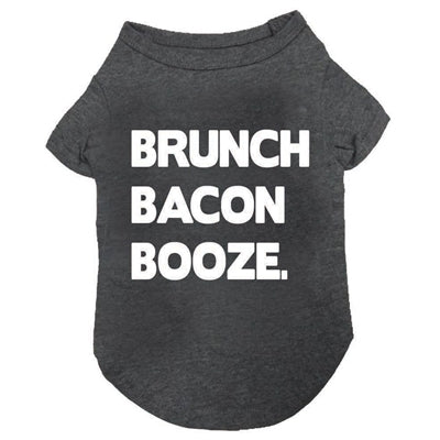 Brunch Bacon Booze T-Shirt in Charcoal Grey - Bark Fifth Avenue