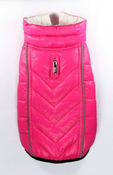 Reversible Puffer Vests - Pink/White