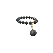 Load image into Gallery viewer, The Black Volcanic Diffuser Charm