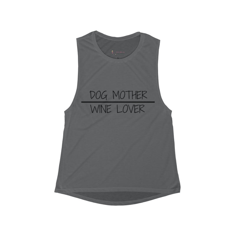 Dog Mother Wine Lover Flowy Scoop Tank