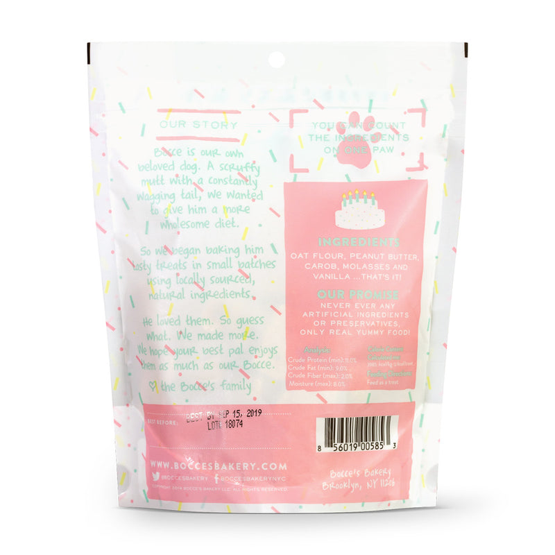 BIRTHDAY CAKE BISCUITS 5 OZ BAGS - Bark Fifth Avenue