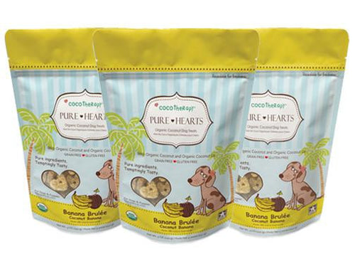 Banana Brulée Pure Hearts Treats - Bark Fifth Avenue