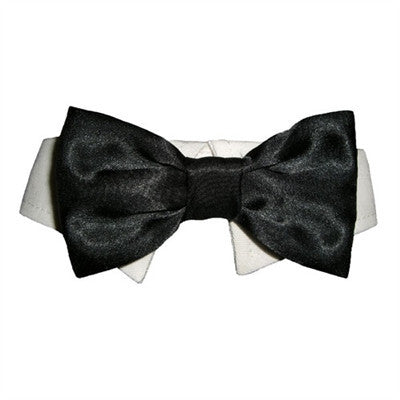 Black Satin Bow Tie - Bark Fifth Avenue