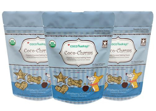 Coco-Charms Blueberry Cobbler Treats - Bark Fifth Avenue