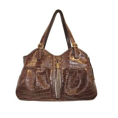 Metro Brown Croco Carrier