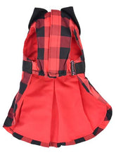 Load image into Gallery viewer, Buffalo Checkered Taffeta Dress, Red
