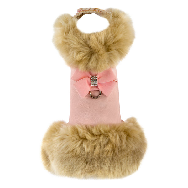 Fur Coat Camel Champagne Fox in Puppy Pink