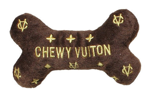 Chewy Vuiton Bone Toy - Bark Fifth Avenue