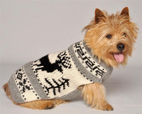 Reindeer Shawl Sweater - Bark Fifth Avenue