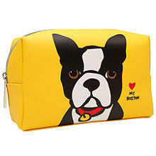 Marc Tetro Large Cosmetic Case-Boston on Yellow - Bark Fifth Avenue