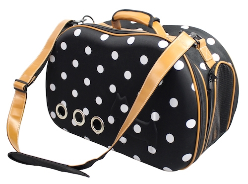 Dotted Venta-Shell Perforated Collapsible Military Grade Designer Pet Carrier - Bark Fifth Avenue