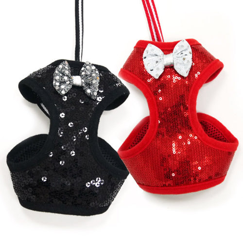 EasyGO Sequin Harness and Leash - Bark Fifth Avenue