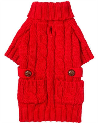 Red Chunky Turtleneck