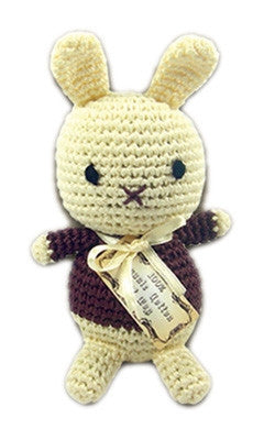 Foo Foo Bunny - Knit Knacks - Organic Cotton Crocheted Toys