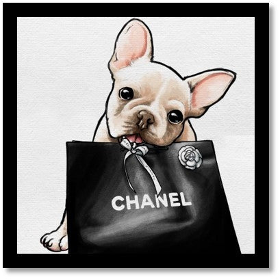 Frenchie Glam Black Bag - Oliver Gal