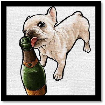 Frenchie and Bubbly - Oliver Gal - Bark Fifth Avenue