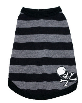 Grey Stripe Skull Tank