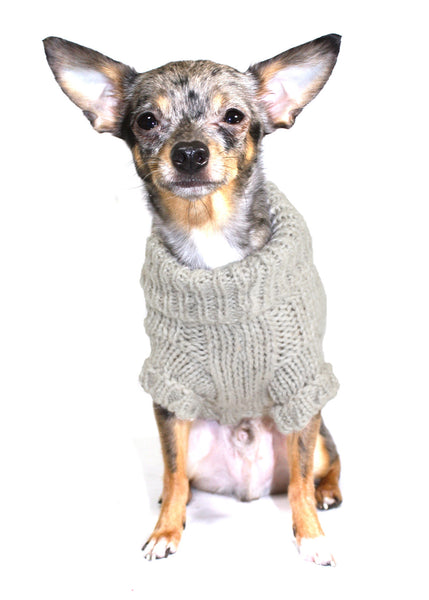 Carmel Angora Cable Knit Sweater