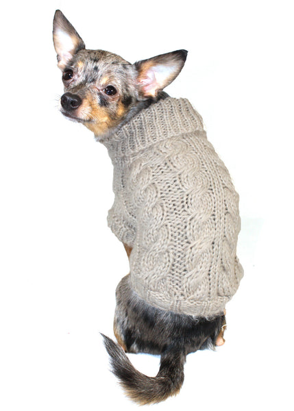Sand Angora Cable Knit Sweater - Bark Fifth Avenue