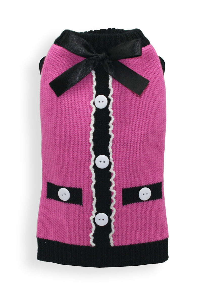 The Socialite Pink Cardigan - Bark Fifth Avenue