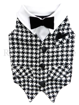 Dapper Wool Houndstooth Vest - Bark Fifth Avenue