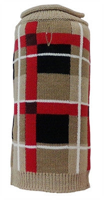 Huxley & Kent - Rolled Neck Sweaters - London Plaid - Tan - Bark Fifth Avenue