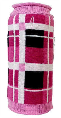 Huxley & Kent - Rolled Neck Sweaters - London Plaid - Pink