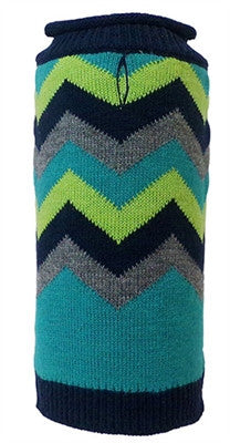 Huxley & Kent - Rolled Neck Sweaters - Herald Blue/Green