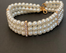 Load image into Gallery viewer, Mommy & Me 3-Row Pearl and Crystal Choker Necklace