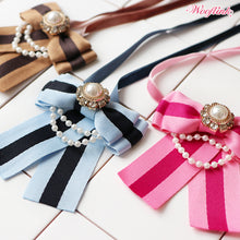 Load image into Gallery viewer, STRIPE BOW NECKLACE