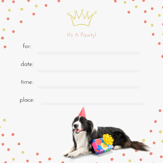 Birthday Invitation - Bark Fifth Avenue