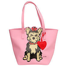 Marc Tetro Yorkie Tote Bag with Dangle
