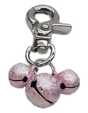 Lobster Claw Bell Charm Light Pink - Bark Fifth Avenue