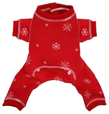Red Snowflake Long Johns - Bark Fifth Avenue