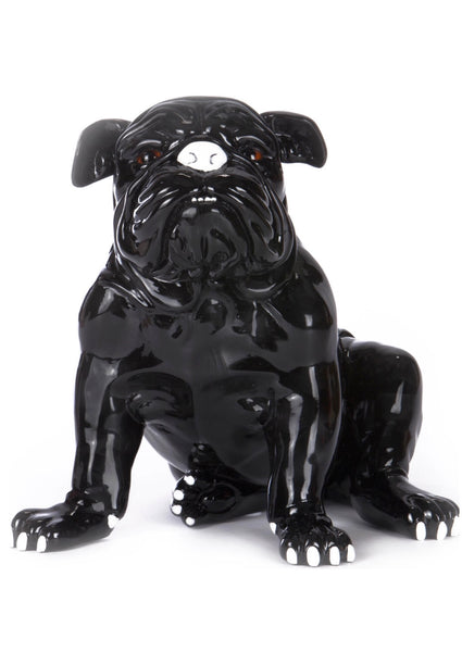 Tia The Bulldog Statue, Black