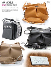 "Load image into Gallery viewer, ""Madison"" Mica Michele Mocha Faux Pebble Leather Carry Bag - Bark Fifth Avenue"
