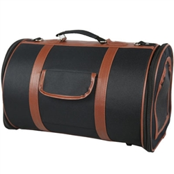 Airline Approved Fashion Cylindrical Pet Carrier - Bark Fifth Avenue