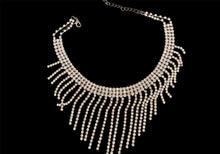 Load image into Gallery viewer, Sparkle Noir Fringe Necklace