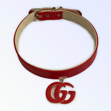 Load image into Gallery viewer, GG Vegan Leather Collar