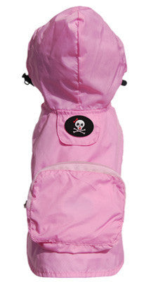 Girlie Skull Pocket Fold Up Raincoat - Bark Fifth Avenue