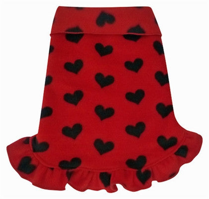 Red with Black Hearts Pullover Dress