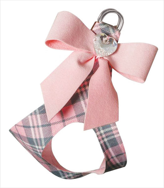 Scotty Collection Tail Bow Heart Plaid Step-In Dog Harness - Bark Fifth Avenue